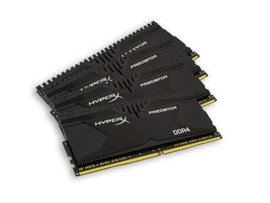 Kingston Predator Series XMP  16GB / 4x4GB / 2400MHz / DDR4 / Non-ECC / CL12