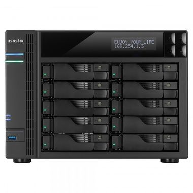 Asustor AS5110T / 10x HDD / Intel Celeron QC @2.00GHz / 2GB RAM / HDMI 1.4a / 3x USB 3.0 / 2x USB 2.0 / 4x GLAN