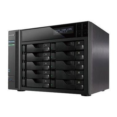 Asustor AS7010T / 10x HDD / Intel Core i3 DC @3.50GHz / 2GB RAM / HDMI 1.4a / 3x USB 3.0 / 2x USB 2.0 / 2x GLAN