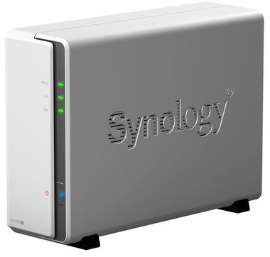 Synology DiskStation DS115j / 1x HDD / Marvell @800MHz / 256MB RAM / 2x USB 2.0 / GLAN