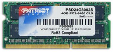 Patriot Signature SO-DIMM 4GB DDR2-800MHz PATRIOT CL6