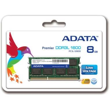 ADATA 8GB / 1600MHz / DDR3L / CL11 / SODIMM / 1.35V / Single Tray