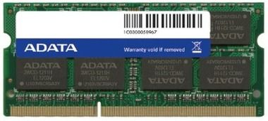 ADATA 8GB / 1600MHz / DDR3 / CL11 / SODIMM / 1.5V / Retail