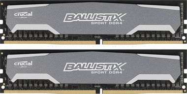 Crucial Ballistix Sport 2x4GB / 2400MHz / DDR4 / CL16 / Single Ranked UDIMM / 1.2V