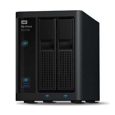 WD My Cloud DL2100 / 2x HDD / 1.7GHz / 1GB RAM / 2x USB 3.0 / 2x GLAN / Černá