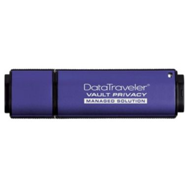 Kingston DataTraveler Vault Privacy SafeConsole 16GB / Flash Disk / USB 2.0 / kovový / modrý - ROZBALENO / rozbaleno