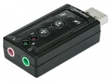 Manhattan Sound card / Hi-Speed USB / virtual 3D / 7.1 with volume control