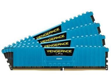 Corsair Vengeance LPX 32GB (Kit 4x8GB) / 2666MHz / DDR4 / CL16 / DIMM / 1.2V / modrá