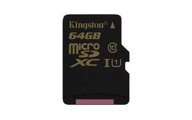 Kingston Micro SDXC 64GB / class 10/UHS-I / R 90MB/s / W 45MB/s / bez adapteru