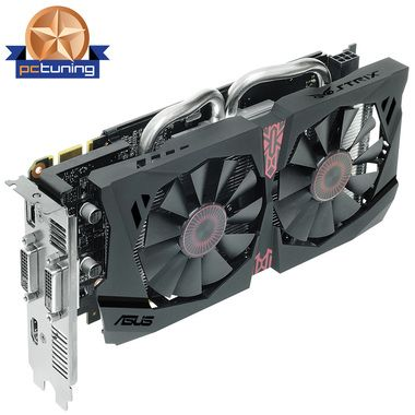 ASUS STRIX-GTX950-DC2OC-2GD5-GAMING / 1140-1355MHz / 2GB 6610MHz / 128bit / 2xDVI+HDMI+DP / 150W (6 pin)