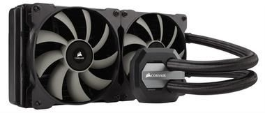 Corsair Hydro H110i GTX / 2x 140 mm / Hydraulic Bearing / 40 dB @ 2000 RPM / 104.65 CFM / Intel + AMD