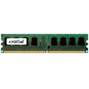 Crucial 2GB / DDR2 / Unbuffered ECC / 800MHz / PC2-6400 / CL6 / 1.80V