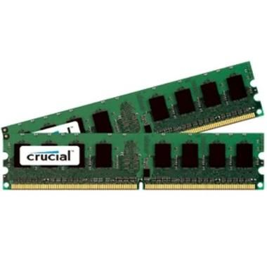 Crucial 4GB / 2x2GB / DDR2 / Unbuffered ECC / 800MHz / PC2-6400 / CL5 / 1.80V