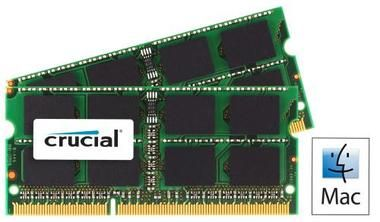 Crucial 4GB / 2x2GB / DDR3 SO-DIMM / 1066MHz / PC3-8500 / CL7 / 1.50V / pro Apple/Mac