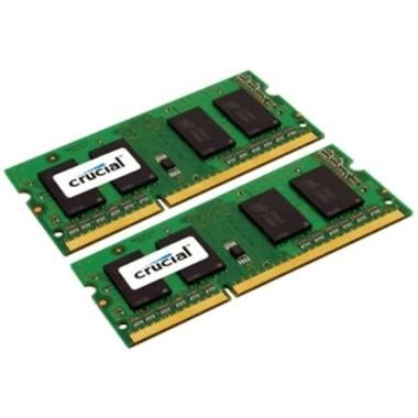 Crucial 8GB / 2x4GB / DDR3L SO-DIMM / 1600MHz / PC3L-12800 / CL11 / 1.35V/1.50V / Dual Voltage / Single Ranked