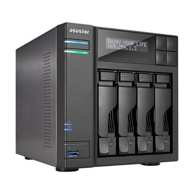 Asustor AS6204T / 4x HDD / Intel Celeron N3150 1.6GHz / 4GB RAM / 3x USB 3.0 / 2x USB 2.0 / 2x GLAN / HDMI