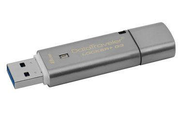 Kingston DataTraveler Locker+ G3 8GB / Flash Disk / USB 3.0 / stříbrná
