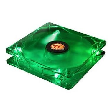 THERMALTAKE  AF0028 Thunderblade Fan / 80x80 / LED / Green / 2000RPM / kluzné ložisko / zelená LED
