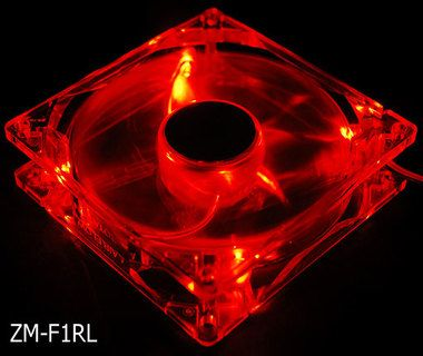 ZALMAN ZM-F1RL Red LED / 80mm / 18-30dB
