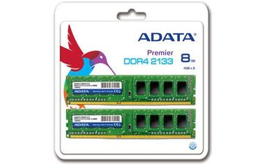 ADATA Premier 8GB (KIT 2x4GB) / 2133MHz / DDR4 / CL15 / 1.2V
