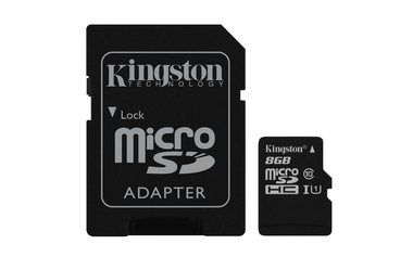 Kingston microSDHC 8GB / High Capacity / Class 10 Gen 2 / 45MB čtení/10MB zápis / s adaptérem