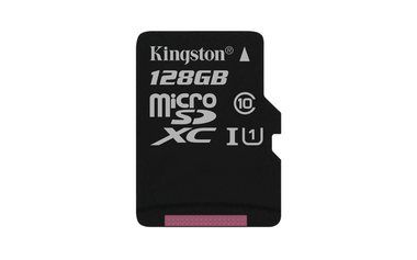 Kingston microSDHC 128GB / UHS-I / class 10 / Gen 2 / 45MB/10MBs- / bez adaptéru