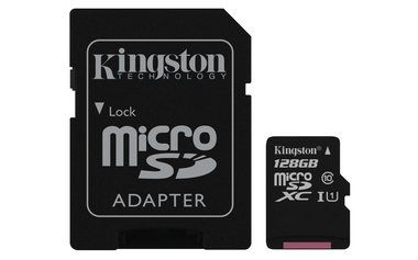 Kingston microSDHC 128GB / UHS-I / class 10 Gen 2 / 45MB/10MBs- / s adaptérem / výprodej