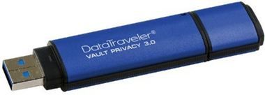 Kingston DataTraveler Vault Privacy 32GB / Flash Disk / USB 3.0 / 256bit AES kódování / modrá