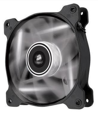 Corsair AF120 LED White Quiet Edition / 120 mm / Hydraulic Bearing / 25.2 dB @ 1500 RPM / 88.7 m3h / 3-pin