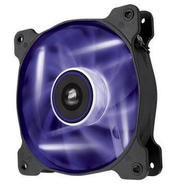 Corsair AF140 LED Purple Quiet Edition / 140 mm / Hydraulic Bearing / 25.5 dB @ 1200 RPM / 112.8 m3h / 3-pin