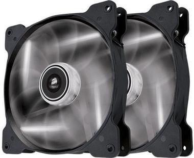 Corsair SP140 LED White Twin Pack / 2x 140 mm / Hydraulic Bearing / 29.3 dB @ 1440 RPM / 84.1 m3h / 3-pin