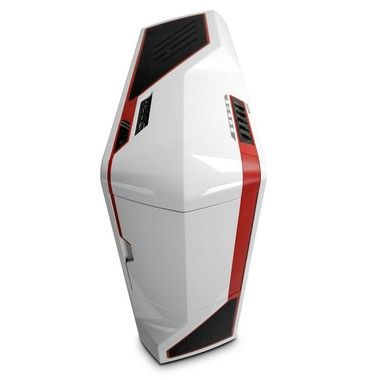 NZXT Phantom White + Red / E-ATX / 1x USB 2.0 + 1x USB 3.0 / 1x 120mm + 1x 140mm + 3x 200mm