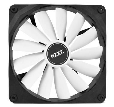 NZXT FZ 140 / 140mm / Long Life Bearing / 24.5dB @ 1000RPM / 83.6CFM / 3-pin
