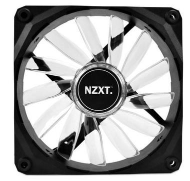NZXT FZ 120 LED White / 120mm / Long Life Bearing / 26.8dB @ 1200RPM / 59.1CFM / 3-pin