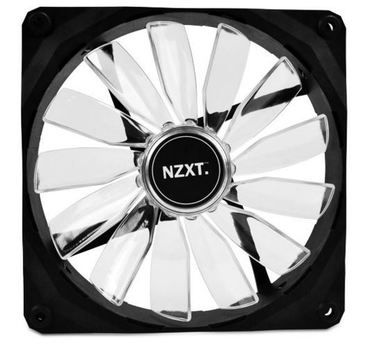 NZXT FZ 140 LED Blue / 140mm / Long Life Bearing / 24.5dB @ 1000RPM / 83.6CFM / 3-pin