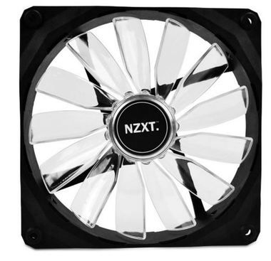 NZXT FZ 140 LED Red / 140mm / Long Life Bearing / 24.5dB @ 1000RPM / 83.6CFM / 3-pin