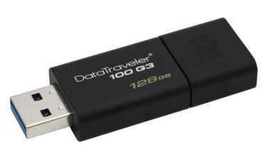 Kingston DataTraveler 100 G3 128GB / Flash Disk / USB 3.0 / černá