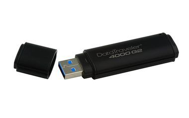 Kingston DataTraveler 4000 G2 64GB / Flash Disk / USB 3.0 /  256bit HW Encrypt FIPS 140-2 Level 3