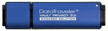 Kingston DataTraveler Vault Privacy 3.0 8GB / Flash Disk / USB 3.0 / Managed / 256bit AES / hliník