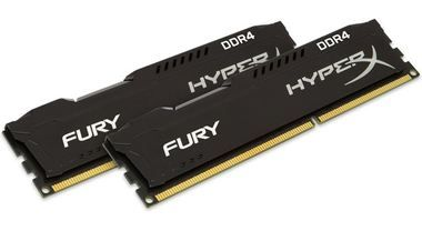 HyperX Fury 16GB (2x 8GB) DDR4 2400MHz / CL15 / DIMM / Non-ECC / Un-Registered / 1.2V