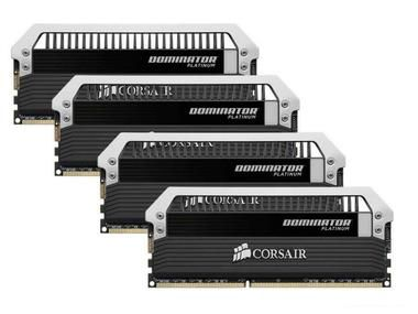 Corsair DOMINATOR Platinum 16GB/ 4x4GB / DDR3 / 1866MHz / PC3-15000 / CL9-10-9-27 / 1.5V / XMP1.3 / černá