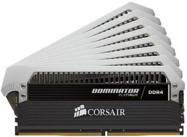Corsair DOMINATOR Platinum 64GB / 8x8GB / DDR4 /  3200MHz / PC4-25600 / CL16-18-18-36 / 1.35V / s chladičem