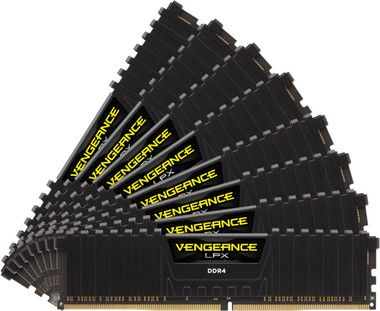 Corsair VENGEANCE LPX BLACK 128GB / 8x16GB / DDR4 /  2666MHz / PC4-21300 / CL16-18-18-35 / 1.2V / XMP2.0  / s  chladičem