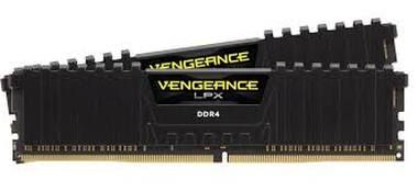 Corsair VENGEANCE LPX BLACK 16GB / 2x8GB / DDR4 /  3333MHz / PC4-26600 / CL16-18-18-36 / 1.35V / XMP2.0  / s chladičem