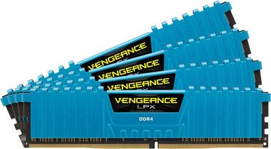 Corsair VENGEANCE LPX BLUE 32GB / 4x8GB / DDR4 /  2400MHz / PC4-19200 / CL14-16-16-31 / 1.2V / XMP2.0 / s chladičem