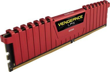 Corsair VENGEANCE LPX RED 4GB / DDR4 /  2400MHz / PC4-19200 / CL16-16-16-39 / 1.2V / XMP2.0 / s chladičem