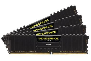 Corsair VENGEANCE LPX BLACK 64GB / 4x16GB / DDR4 /  2666MHz / PC4-21300 / CL16-18-18-35 / 1.2V / XMP2.0 / s chladičem