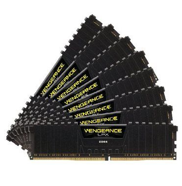 Corsair VENGEANCE LPX BLACK 64GB / 8x8GB / DDR4 /  2133MHz / PC4-17000 / CL13-15-15-28 / 1.2V / XMP2.0 / s chladičem