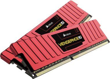 Corsair VENGEANCE LP RED 16GB / 2x8GB / DDR3L / 1600MHz / PC3-12800 / CL9-9-9-24 / XMP1.3 / 1.35V / s chladičem