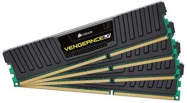 Corsair VENGEANCE LP BLACK 32GB / 4x8GB / DDR3 / 1600MHz / PC3-12800 / CL10-10-10-27 / 1.5V / XMP / s chladičem